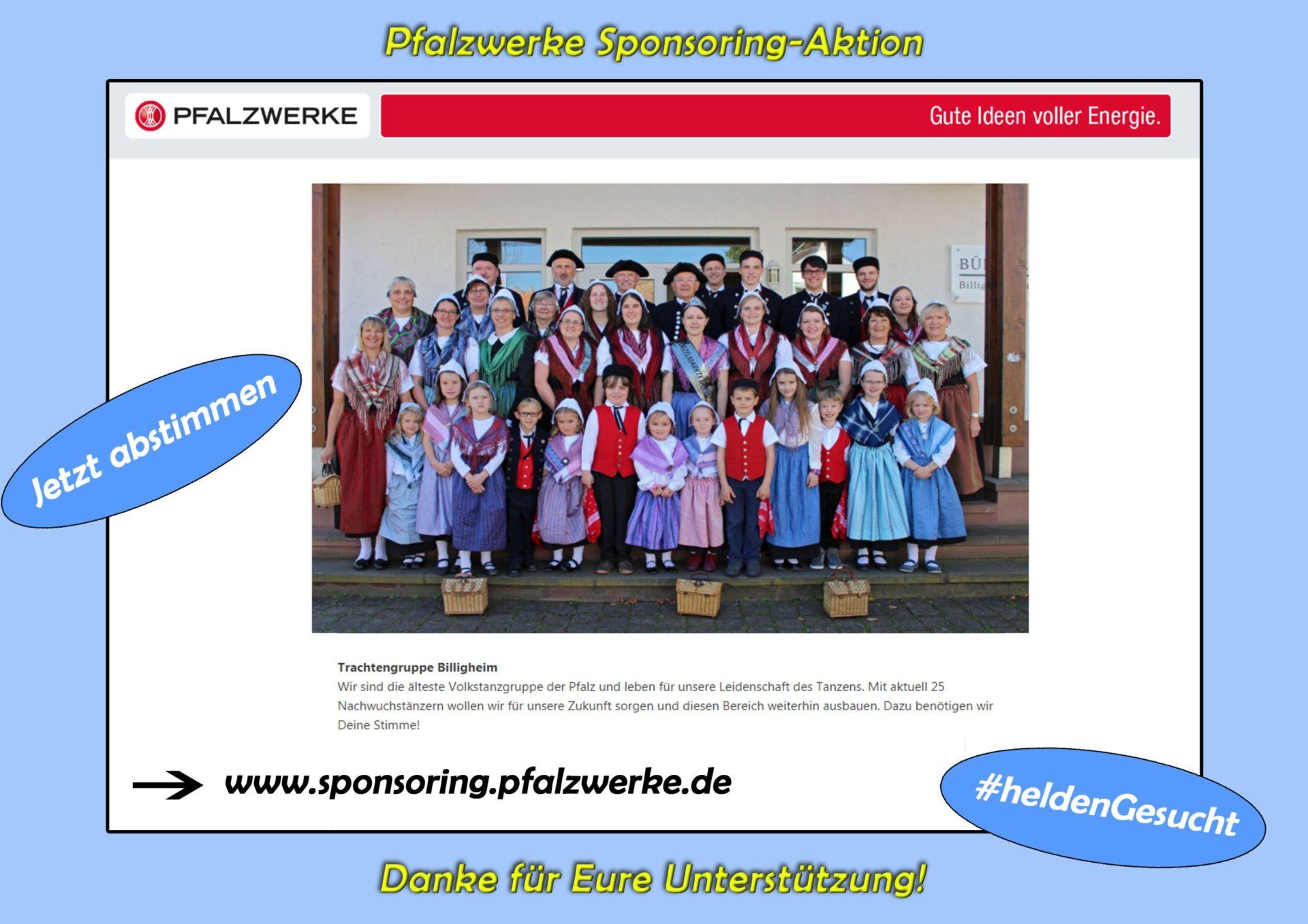 Vereinssponsoring der Pfalzwerke – Jetzt abstimmen