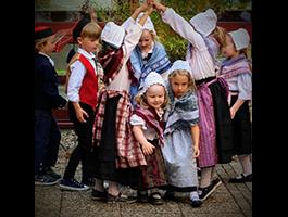 Auftritt Kinder beim Büchereifest