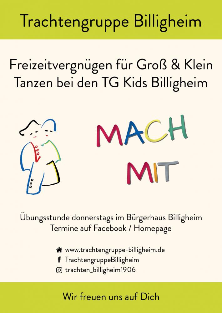 Rückseite Flyer TG Kids